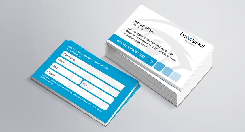 rjr design studio portfolio business card ophthalmologist designer london