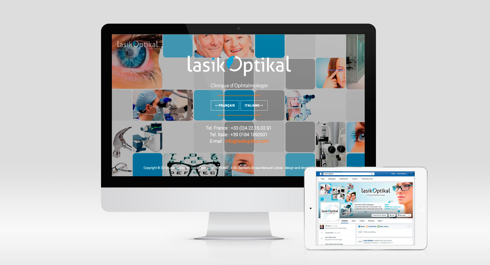rjr design studio clinic ophthalmologist web designer london