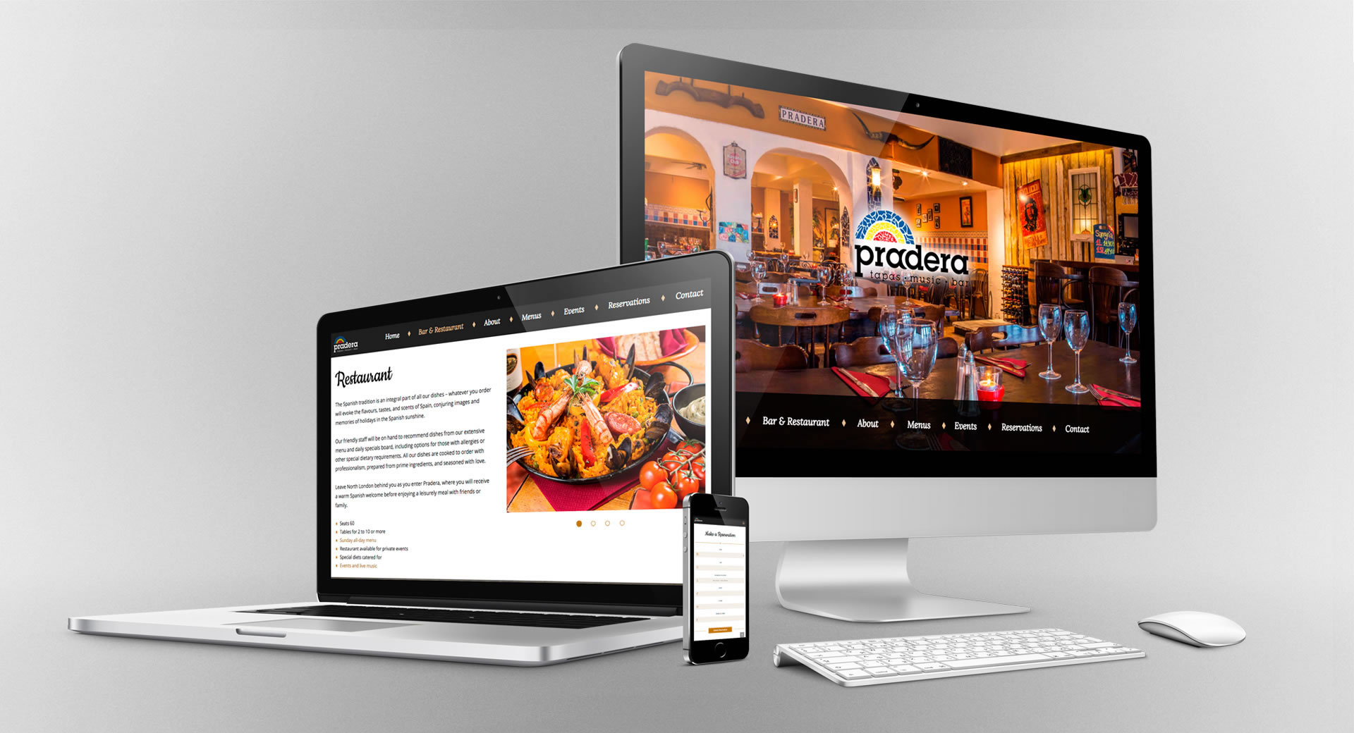 rjr design studio restaurant website development london