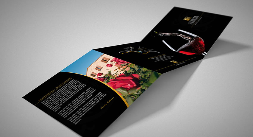 rjr design studio tenuta corporative trifold printing london